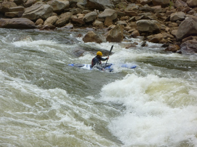 Catching the eddy after Big Nasty - Cheat Canyon, West Virginia