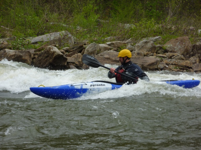 Surfing at Typewriter on the Cheat Canyon, West Virginia