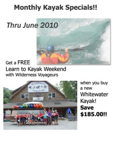 June Kayak Specials with Wilderness Voyageurs, Ohiopyle, PA