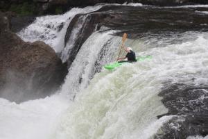 Ben hucks Ohiopyle falls. Look at him go!