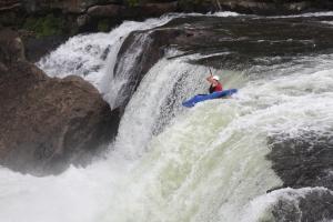 Rob boofing Ohiopyle falls