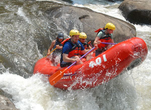 """Rafting the Rooster Tail on the Upper Yough"""