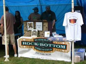 Rock Botom booth at Beer and Gear festival