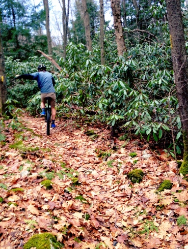 Mountain unicycling trails in Ohiopyle