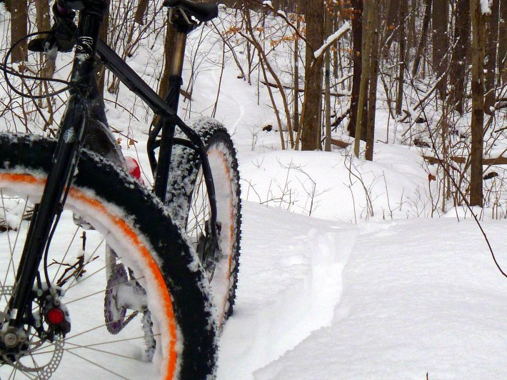 Fat biking in Ohiopyle
