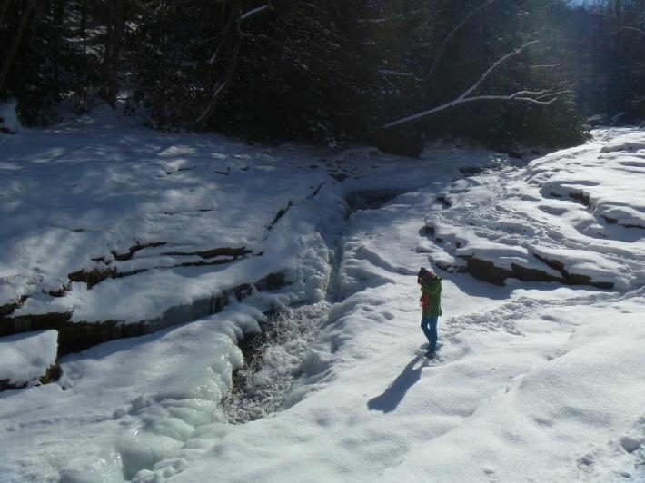 Meadow Run slides frozen