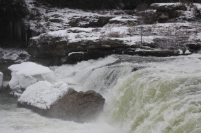 Ohiopyle Falls in the winter